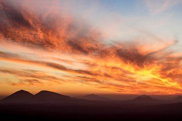 Zonsondergang boven Lanzarote