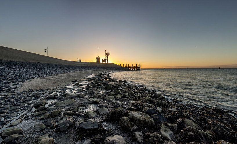 Oudeschild prachtige zonsopkomst - Texel van Texel360Fotografie Richard Heerschap