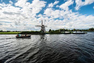 Oude Windmolens in Nederland.