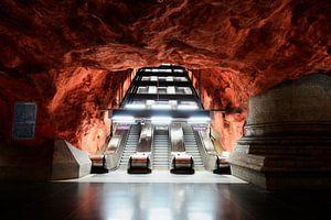 Stockholm Radhuset Subway-Station van Lars Scheve