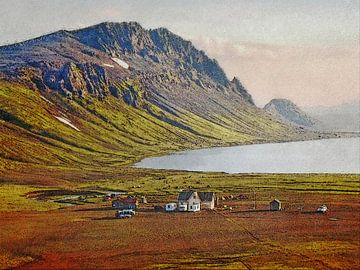 Avond in Alftavatn, IJsland
