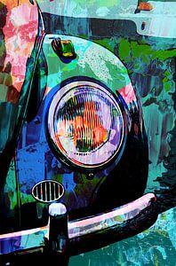 Volkswagen Käfer Oldtimer im Mixedmedia-Stil von The Art Kroep