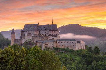 Burg Vianden in Luxemburg #2 von Michael Valjak