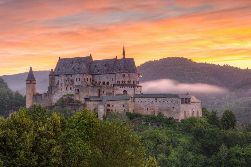 Vianden Castle in Luxembourg #2 van Michael Valjak