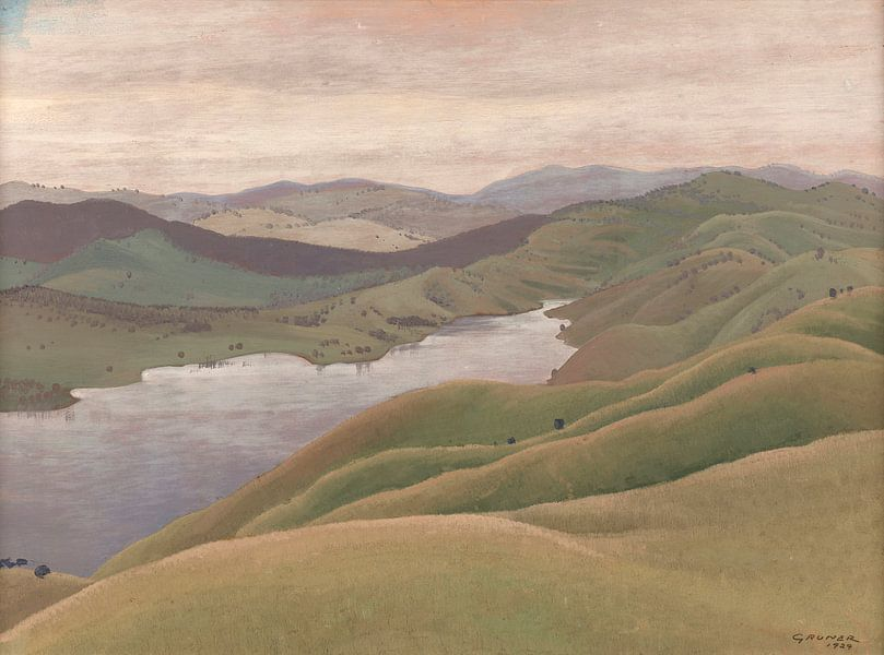 Landschaft, Elioth Gruner von Meesterlijcke Meesters