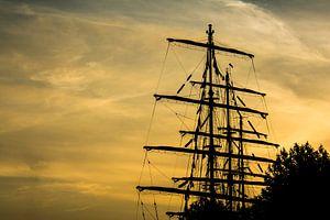 Tall Ship in goud Sail Amsterdam