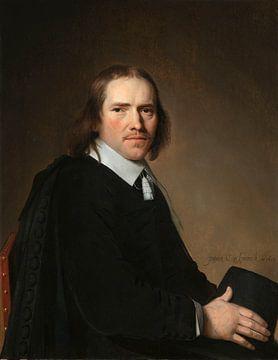 Portret van Dirck Johannes of Jacobus Wallis, Jan Verspronck