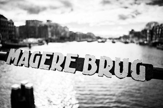 Magere Brug Zwart-Wit van PIX URBAN PHOTOGRAPHY