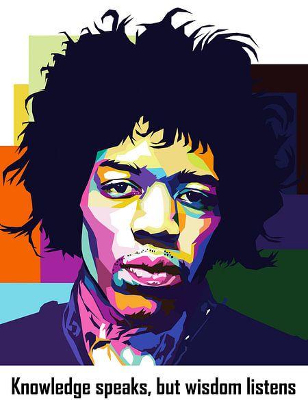 Pop Art Jimi Hendrix van Jan Willem van Doesburg