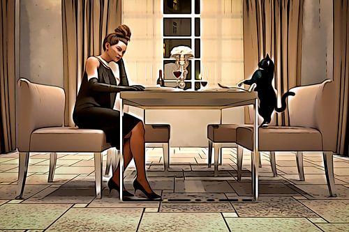 Tisch für zwei, eine Zeichentrickfigur
