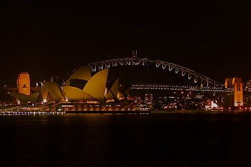 Sydney bij nacht von Arne Hendriks