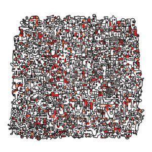 Vreemde kostganger v3 in rood von