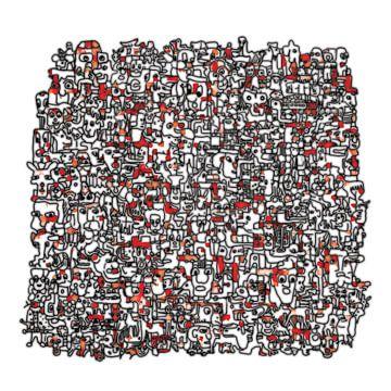 Vreemde kostganger v3 in rood sur Henk van Os