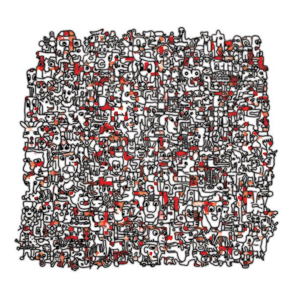 Vreemde kostganger v3 in rood von Henk van Os
