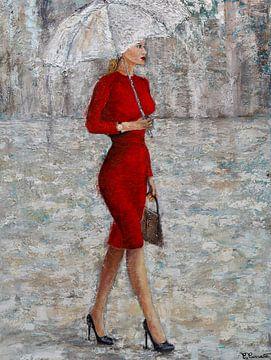 Dame in Rot von Christian Carrette