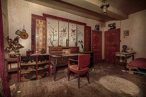 Chinesisches Zimmer in verlassenem Haus von Sander Schraepen
