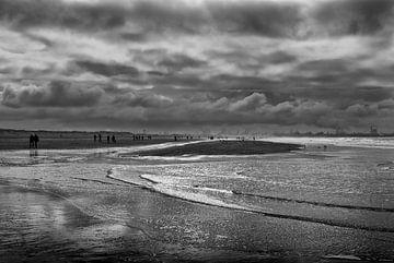 Zonsondergang bij Hoek van Holland von Peter Hofwegen