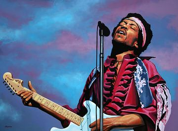 Jimi Hendrix Painting 2 sur Paul Meijering