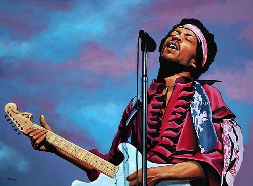 Jimi Hendrix Schilderij 2 van Paul Meijering
