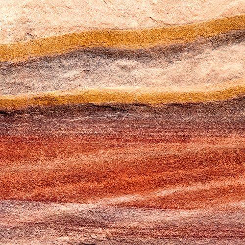 Rotswand in rood - studie 1 van