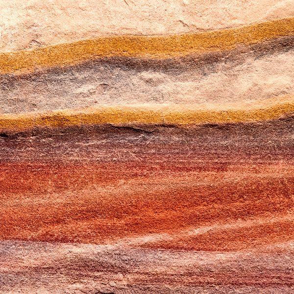 Rotswand in rood - studie 1 van Hans Kwaspen
