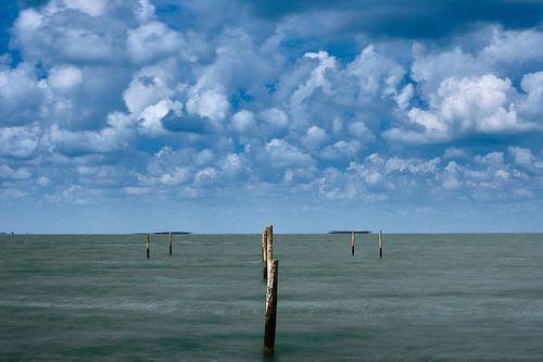 Wolken en water.