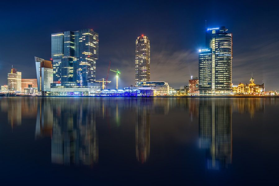 Skyline Rotterdam van Ellen van den Doel