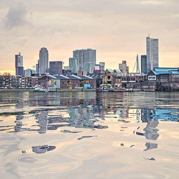 Réflexion de l'eau Feijenoord Rotterdam sur Frans Blok