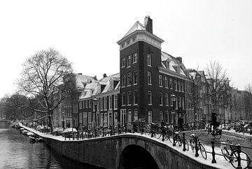 Winter in Amsterdam / Priinsengracht von Marianna Pobedimova