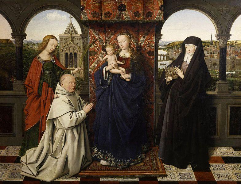 Jan van Eyck - Maria met Kind van 1000 Schilderijen