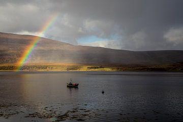 Regenboog in Schotland van