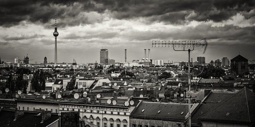 Black and White Photography: Berlin – Skyline-Panorama van Alexander Voss