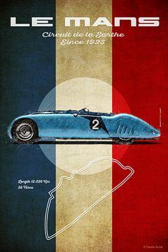 Le Mans Sieger 1937 Bugatti Tank von Theodor Decker