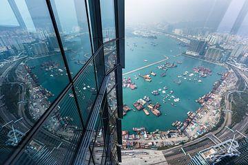 Hongkong uitzicht van bovenaf van