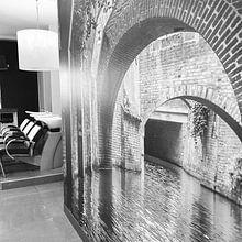 Klantfoto: Binnendieze Den Bosch van Patrick Verhoef, op behang