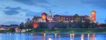 Wawel Castle at dusk, Krakow, Lesser Poland, Poland, Europe