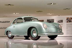 Mintgroene klassieke Porsche