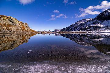 Bergmeertje op de Nufenenpass - Ticino / Wallis - Zwitserland van Felina Photography
