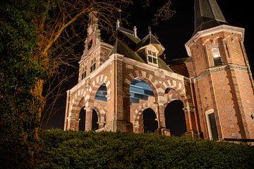 Die Schleuse von Sneek am Abend von Fotografiecor .nl