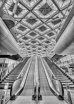Rolltreppen Den Haag Hauptbahnhof von Leon Okkenburg