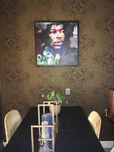 Kundenfoto: Motiv Jimi Hendrix Frame 01 Blurred Game -  Splash von Felix von Altersheim, auf leinwand