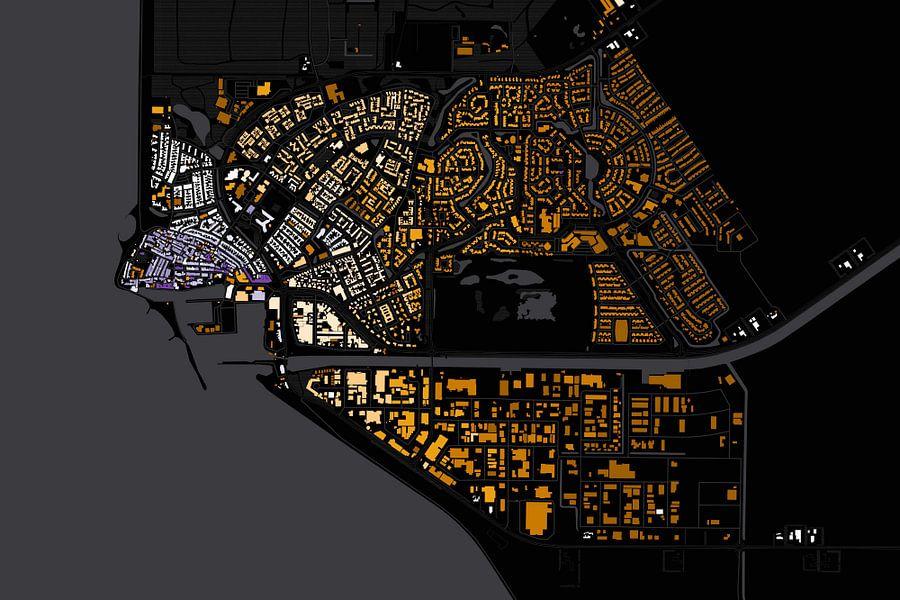 Kaart van Urk abstract
