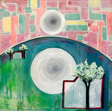 abstract landschap van Renée Teunis