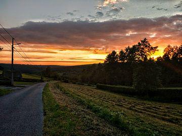 Sonnenuntergang in den Ardennen von Lucas van Gemert