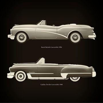 Buick Skylark Cabriolet 1956 en Cadillac Deville Cabriolet 1948
