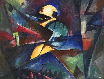 ARNOLD TOPP (kubisme), Zonder Titel, 1916 van Atelier Liesjes