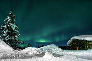 Polarlicht (Aurora Borealis) - Kiilopaa Fell Centre Lappland von Martin Boshuisen - More ART In Nature Photography
