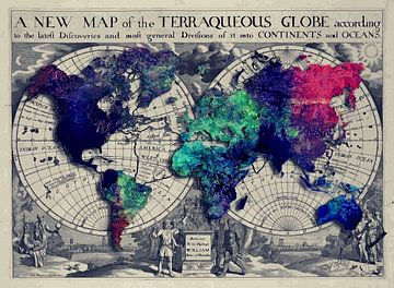 Wereldkaart 8 #kaart #wereldkaart van JBJart Justyna Jaszke