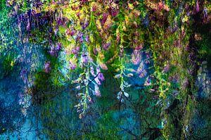 Blauweregen * geinspireerd op een schilderij van Claude Monet van Paula van den Akker