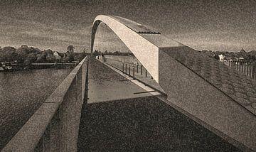 Brücke mit Bogen von Corrie Ruijer